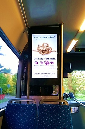 "Bussimainonta | DigiScreen 32"" pysty 